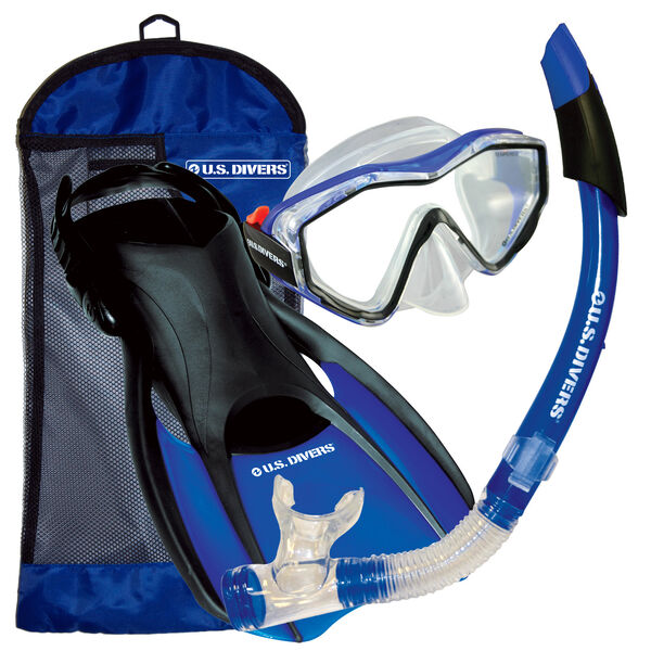 U.S. Divers Anacapa Mask, Snorkel, and Fin Travel Set
