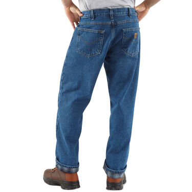 Carhartt Men's Relaxed-Fit Straight-Leg Flannel Lined Jean