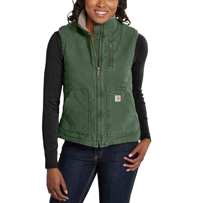 Carhartt Women's Sandstone Sherpa-Lined Mock-Neck Vest image number 4