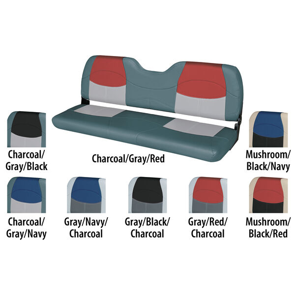 """Wise Blast-Off Tour Series 58"""" Wide Folding Bench Seat"""