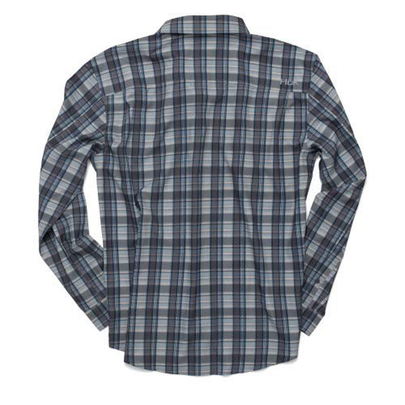 Huk Men's Tide Point Woven Plaid Long Sleeve image number 4