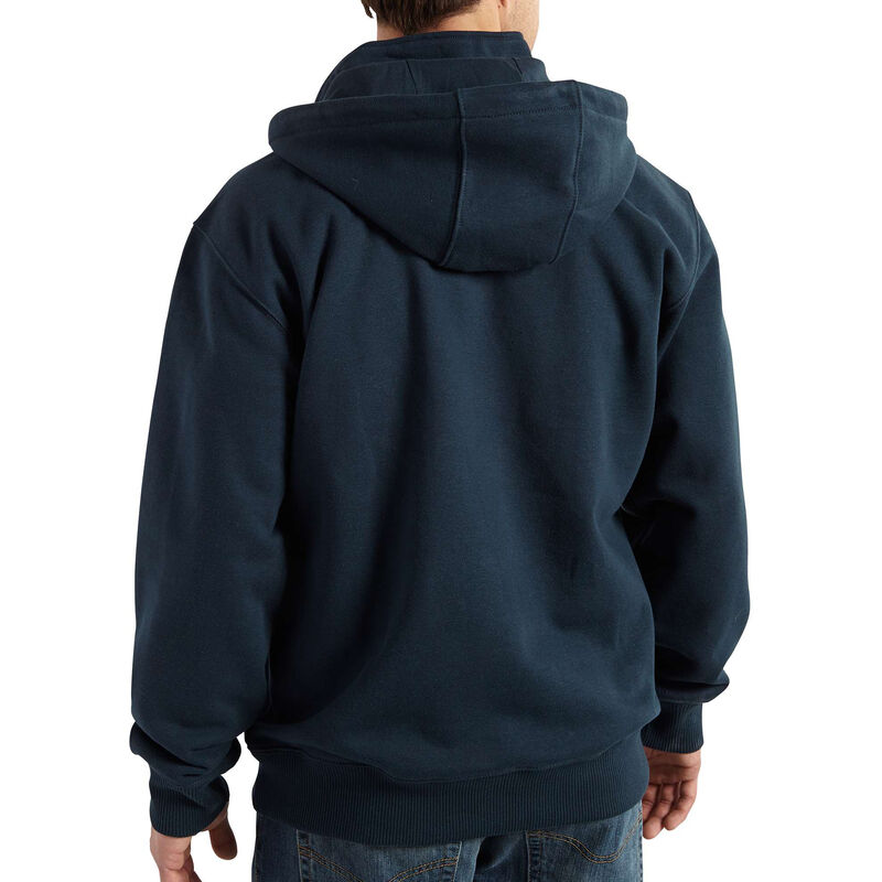Carhartt Men's Rain Defender Paxton Heavyweight Hooded Zip Mock Sweatshirt image number 8