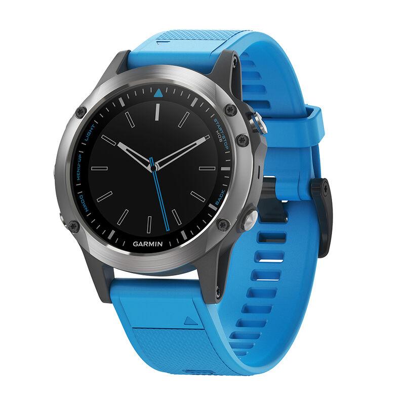 Garmin Quatix 5 Marine GPS Smartwatch With Blue Silicone Band image number 1