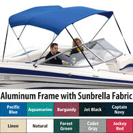 "Shademate Sunbrella 3-Bow Bimini Top, 6'L x 46""H, 73""-78"" Wide"