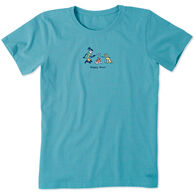 Life Is Good Women's Jackie Happy Hour Vintage Short-Sleeve Crusher Tee