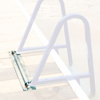 Optional Flip-Up Mount With Quick Release For Dockmate Ladders