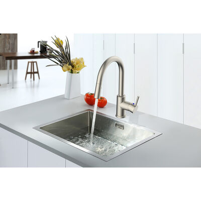Empire RV Metal Single-Lever Kitchen Faucet with Pull-Down Sprayer