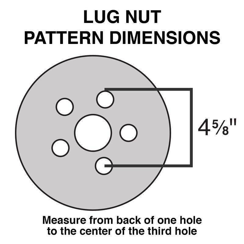 Tredit H188 5.30 x 12 Bias Trailer Tire, 5-Lug Spoke White Rim image number 2