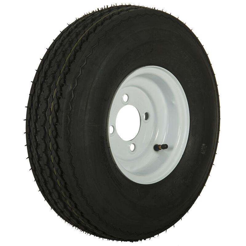 Tredit H188 5.70 x 8 Bias Trailer Tire, 4-Lug Standard White Rim image number 1