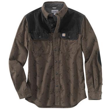 Carhartt Men's Burleson Printed Chamois Long-Sleeve Shirt