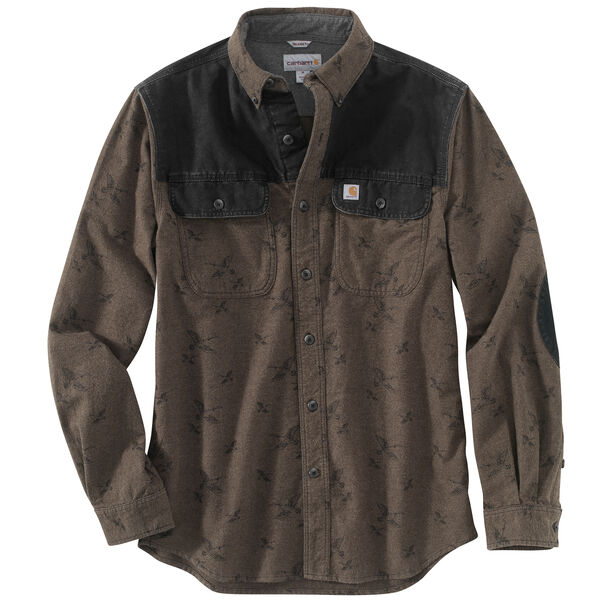 Carhartt Men's Burleson Printed Chamois Long-Sleeve Shirt