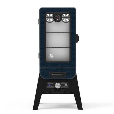 Pit Boss 3-Series Analog Electric Vertical Smoker, Blue Hammertone