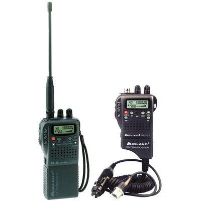 Midland 75-822 40-Channel Handheld CB Radio w/Mobile Converter Kit