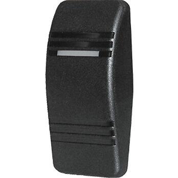 Blue Sea Contura Rocker Switch Actuator with 1 LED Indicator Light, black