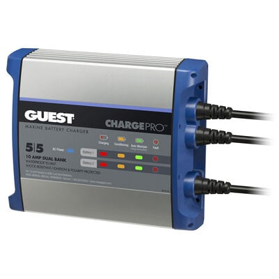 Marinco Guest On-Board Battery Charger, 10A/12V
