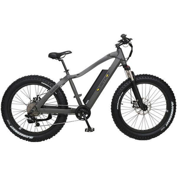 "QuietKat Ranger 750-watt Electric Mountain Bike 19"", Charcoal"