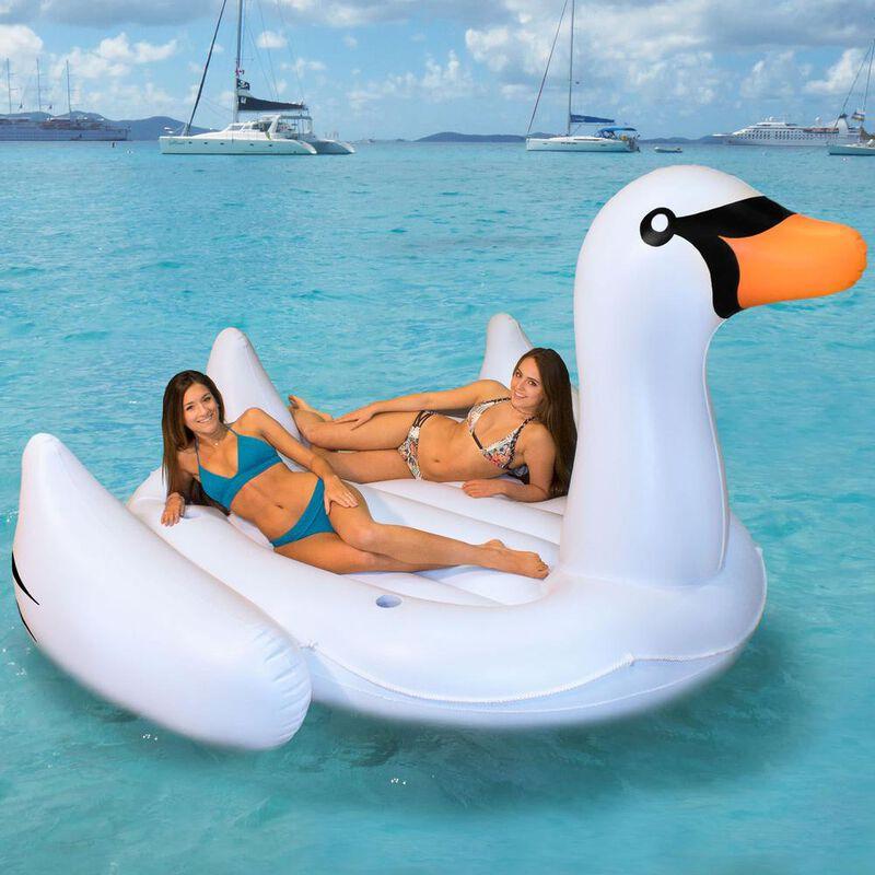 Swimline Biggest Giant Swan Inflatable Float image number 2