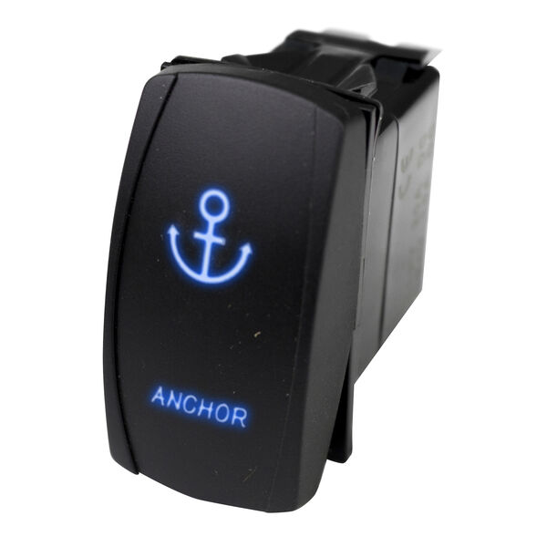 Race Sport LED Rocker Switch with Blue LED Radiance – Anchor