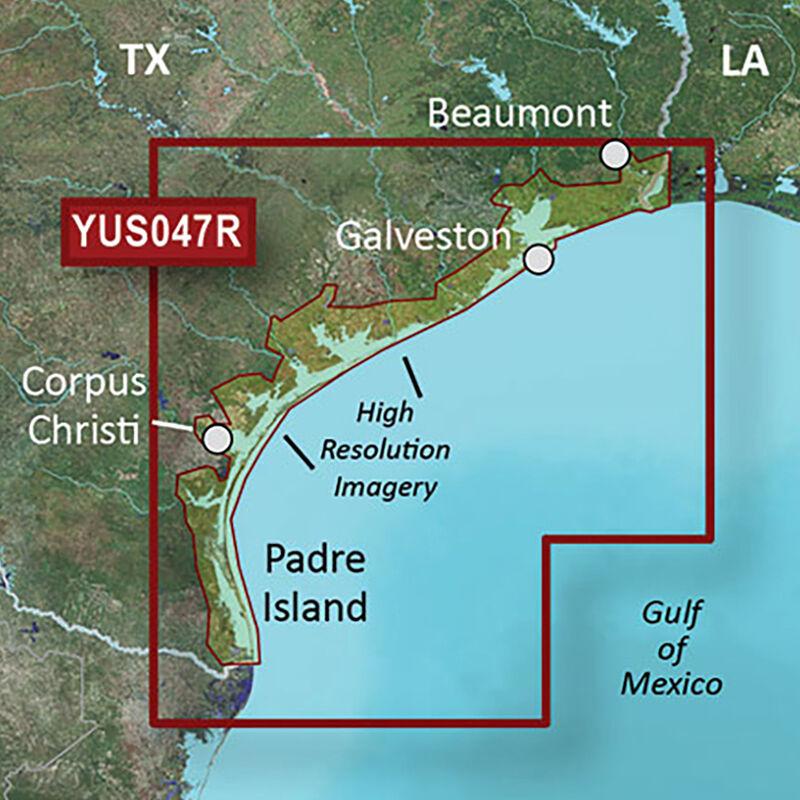 Garmin BlueChart g2 HD Cartography, Texas Gulf Coast image number 1