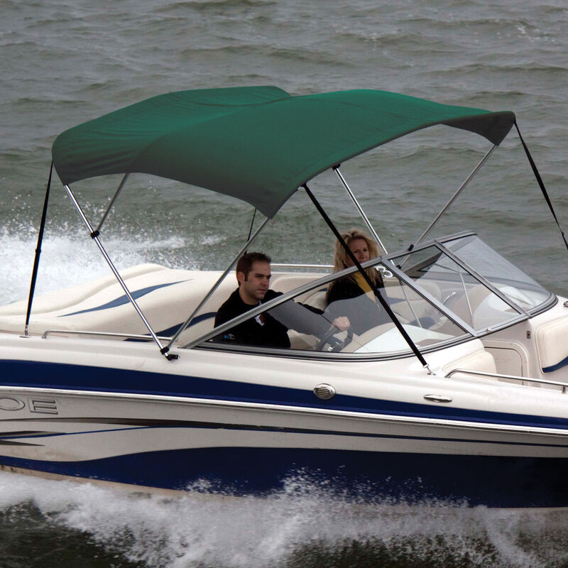 """Shademate Polyester 3-Bow Bimini Top, 5'L x 32""""H, 54""""-60"""" Wide image number 4"""