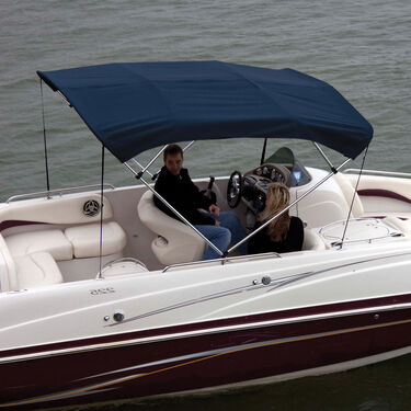 """Shademate Bimini Top Sunbrella Fabric and Boot Only, 4-Bow 8'L, 42""""H, 73""""-78""""W"""