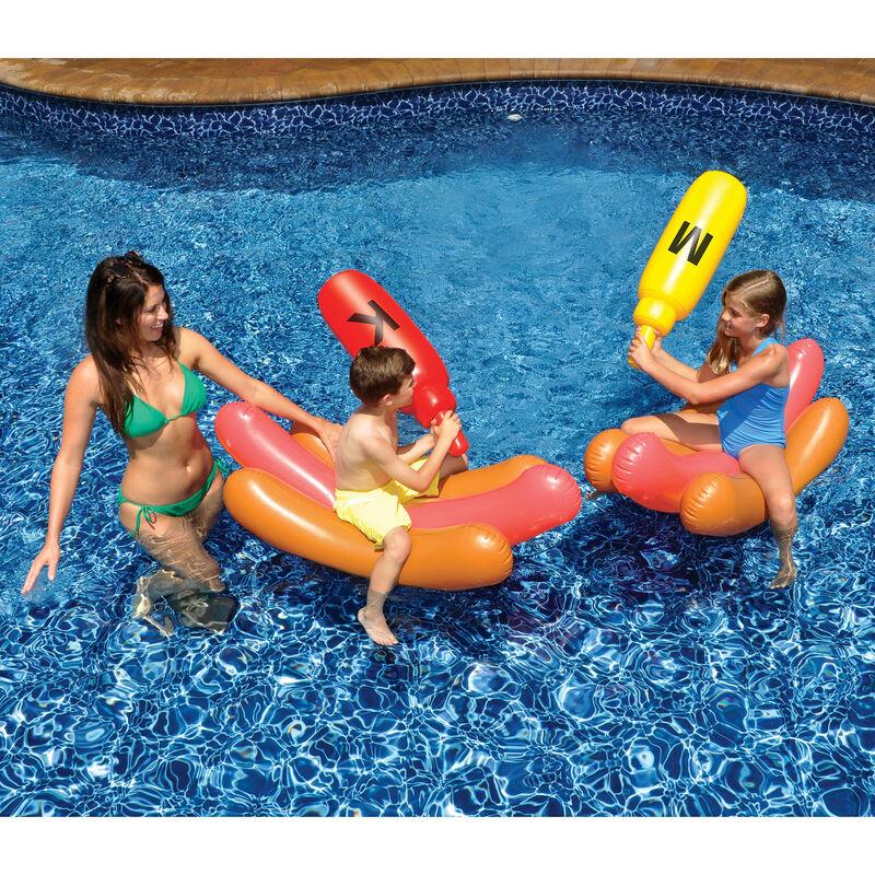 Swimline Hot Dog Battle Pool Game image number 1