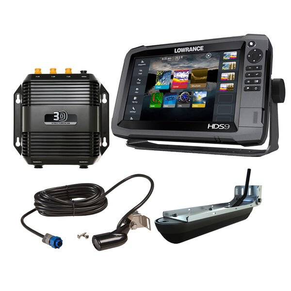 Lowrance HDS-9 Gen3 Insight Fishfinder/Chartplotter Bundle With StructureScan 3D