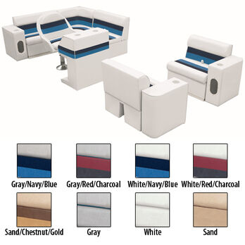 Deluxe Pontoon Seats w/Toe Kick Base, Group 6 Package Plus Stand, White