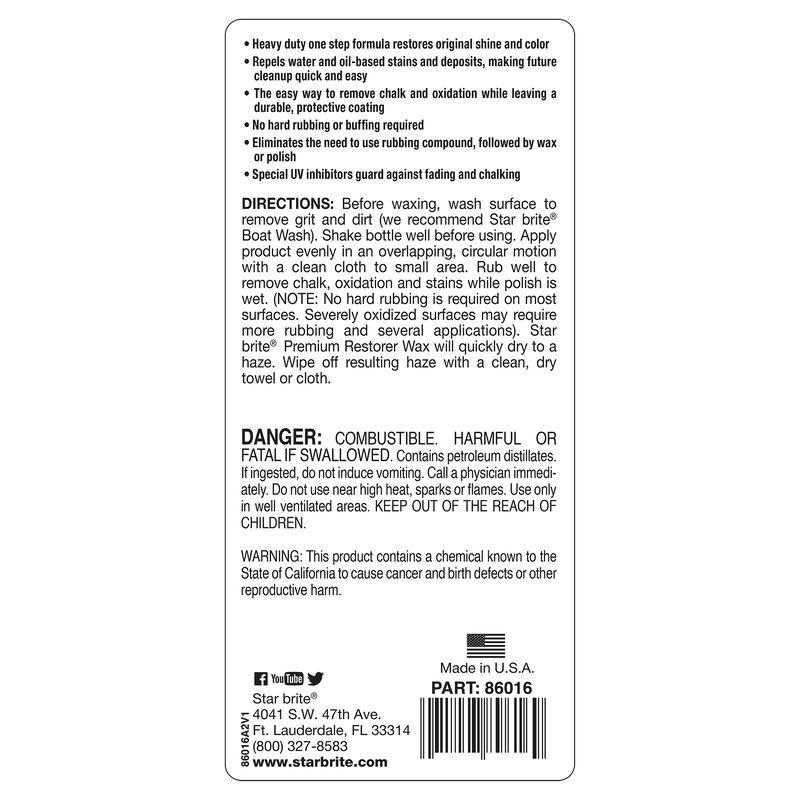 Star Brite Premium Restorer Wax, 16 oz. image number 3