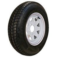 "Kenda Loadstar 12"" 480-12 K353 Bias Trailer Tire With Galvanized Wheel Assembly"