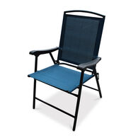 Folding Sling Chair, Turquoise Blue