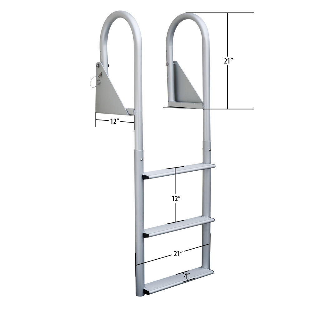 Dockmate Wide Step Flip-Up Dock Ladder, 5-Step