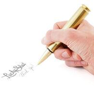 Lucky Shot USA 50-Caliber Bullet Twist Ink Pen, Brass
