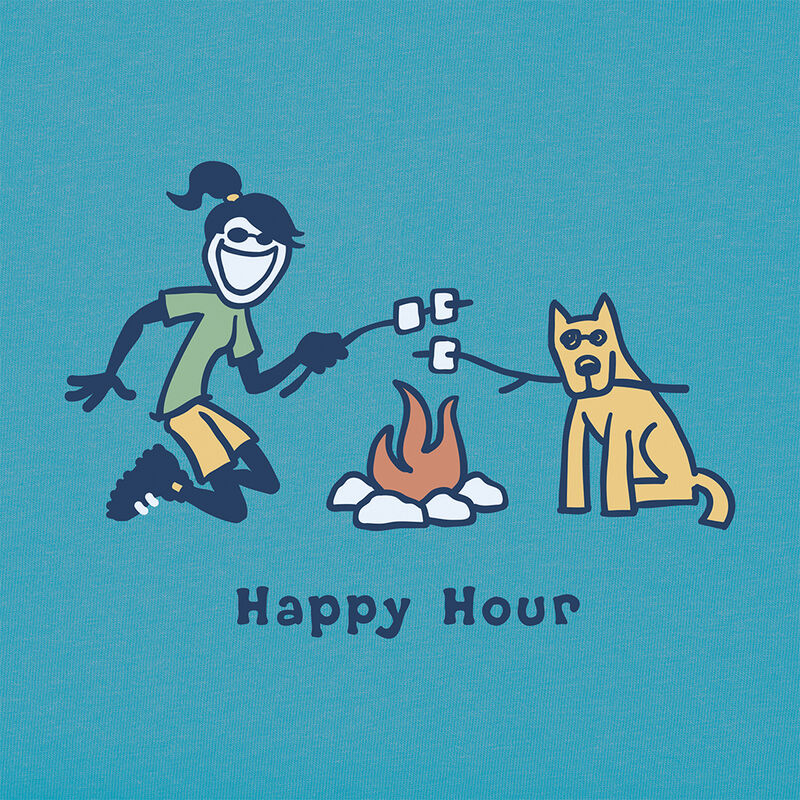 Life Is Good Women's Jackie Happy Hour Vintage Short-Sleeve Crusher Tee image number 2