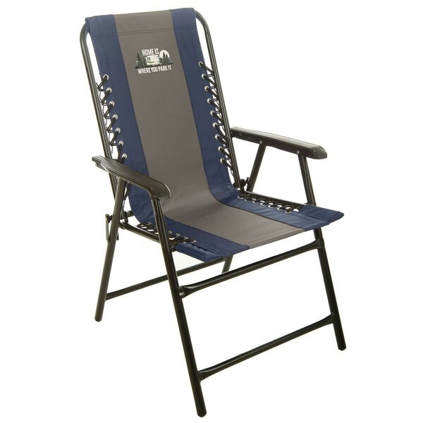Home Is Where You Park It Bungee Chair, Navy/Gray