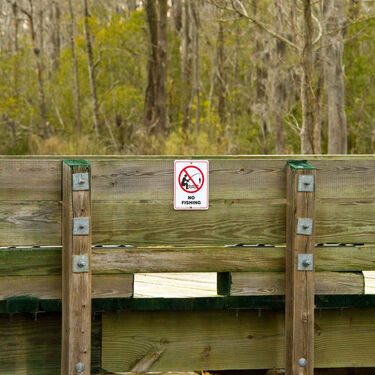 """No Fishing"" Sign"