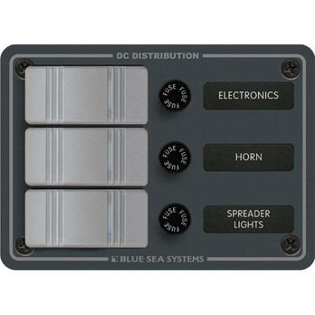 Blue Sea Water-Resistant Contura Switch Fuse Panel - 3-Position Vertical