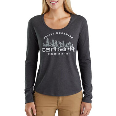 Carhartt Women's Lockhart Graphic Rugged Workwear Long-Sleeve Tee