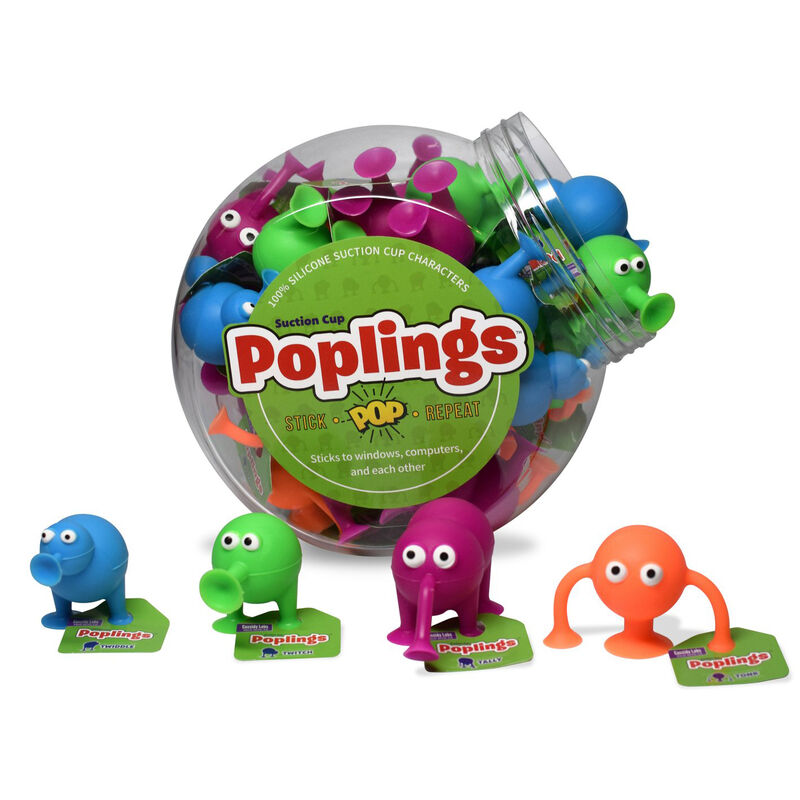 Poplings Suction Cup Toys, 36 pieces image number 1