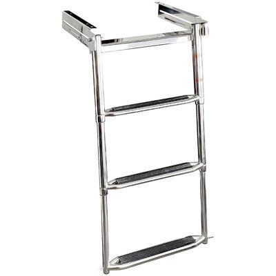 Overton's Slide-in 3 Step Telescopic Stainless Steel Swim Platform Ladder