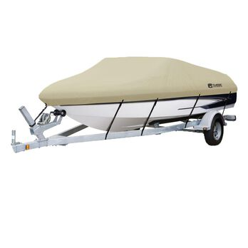 "Dryguard Waterproof Boat Cover - 17' - 19', Beam 102"""