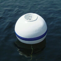 "Sur-Moor Shackle Buoy with Rope Nest White 2-1/2"" Tube diameter"