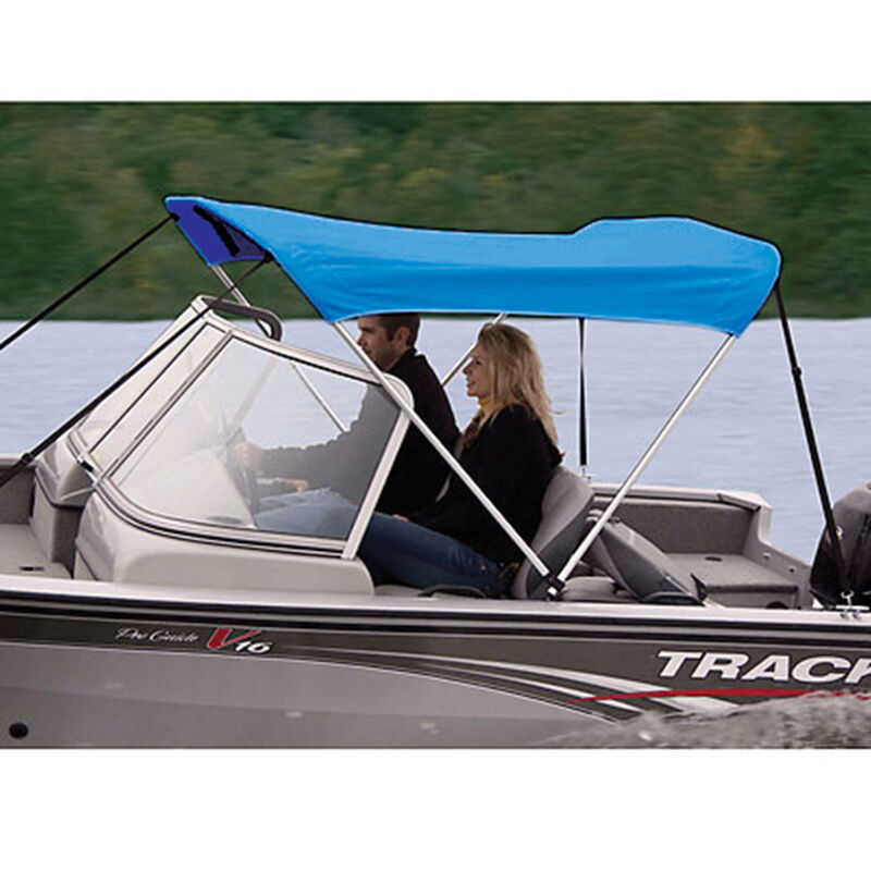 """Shademate Polyester 2-Bow Bimini Top, 5'6""""L x 42""""H, 61""""-66"""" Wide image number 3"""
