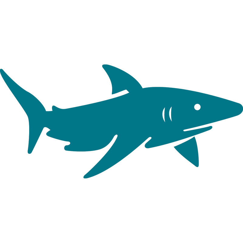 Shark Vinyl Decal image number 17