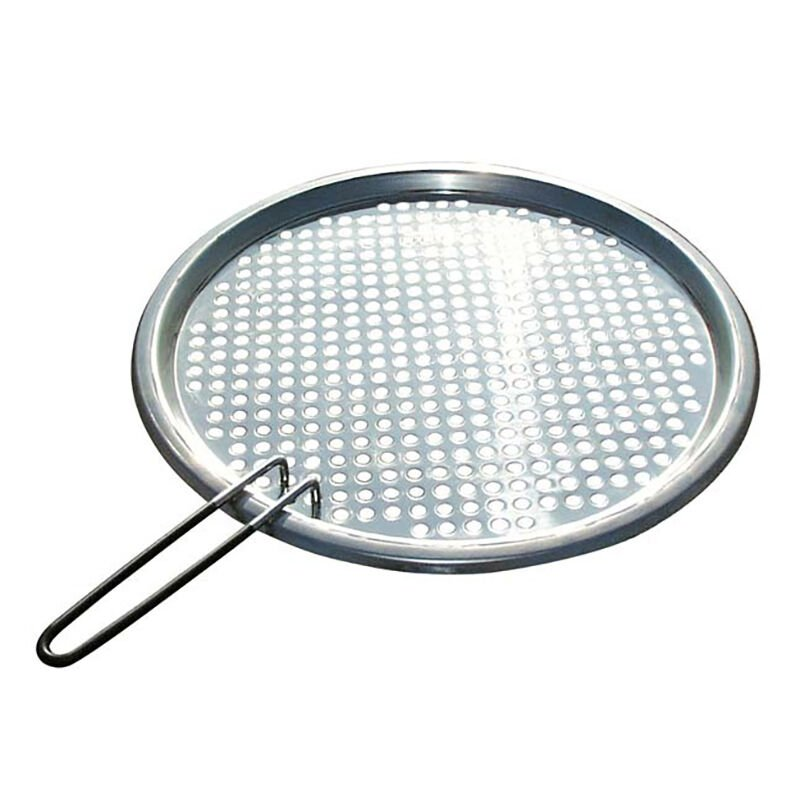"""Stainless Steel Fish/Veggie Grill Tray 13 3/4"""" dia image number 1"""