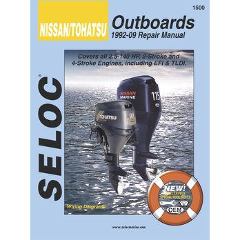 Seloc Marine Outboard Repair Manual for Nissan/Tohatsu '92 - '13
