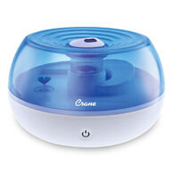 Crane Personal Ultrasonic Cool Mist Humidifier, Blue and White