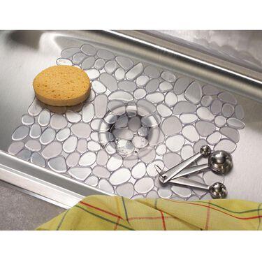 "iDesign Pebblz Sink Mat, 10-3/4"" x 12-1/2"" Clear"