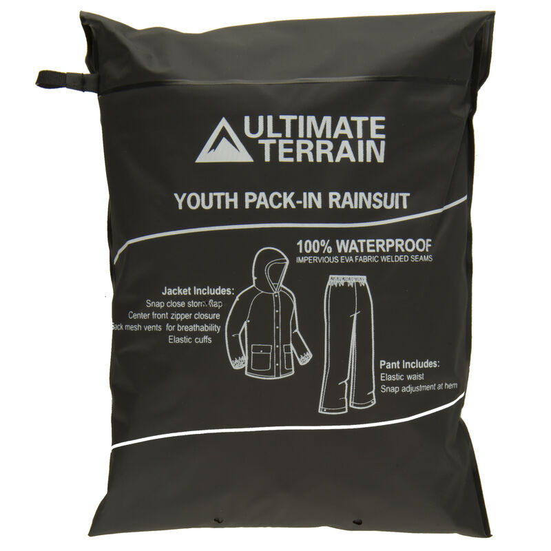Ultimate Terrain Youth Pack-In Rain Suit image number 25