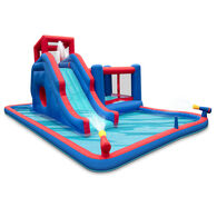 Sunny & Fun Inflatable Water Park with Slide and Bounce House